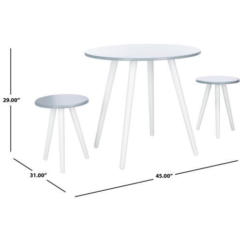 Whitman 3 Piece Dining Set - Grey / White
