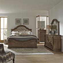 Opt Queen Panel Bed, Dresser & Mirror, Chest