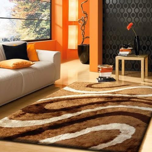 Designer Shag S.V.D. 8002 Area Rug by Rug Factory Plus - 8' x 11' / Brown