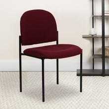 View Product - Comfort Burgundy Fabric Stackable Steel Side Reception Chair