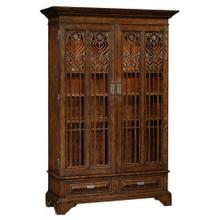 Dark oak gothic display cabinet
