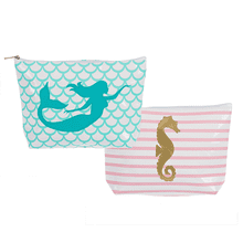 Coastal Applique Zip Pouches (6 pc. ppk.)