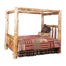 Canopy Bed - King - Natural Cedar