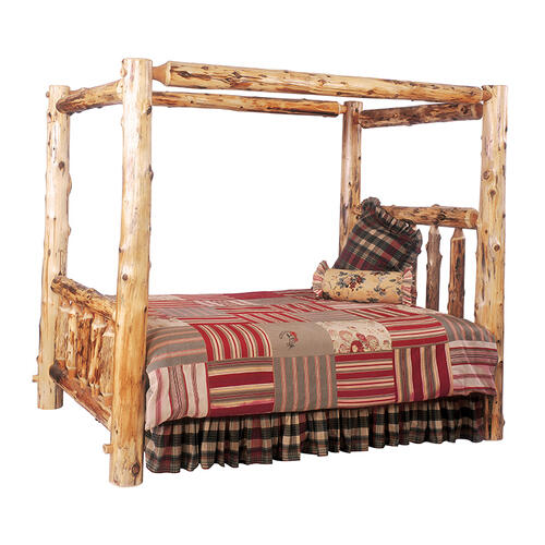Canopy Bed - Double - Vintage Cedar