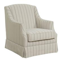 Mackenzie Swivel Glider Chair Gray Stripe