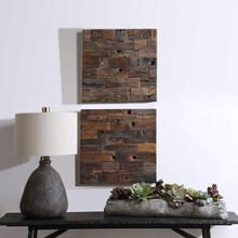 Astern Wood Wall Decor, S/2