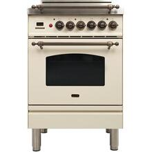 "24"" Nostalgie Series Friestanding Single Oven Gas Range with 4 Sealed Burners in Antique White"