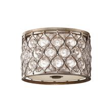 Lucia Small Flush Mount Burnished Silver