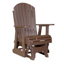 See Details - 2 Adirondack Glider Chair, Chestnut-brown