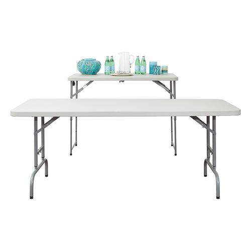 Office Star - 4' Height Adjustable Fold In Half Resin Multi Purpose Table