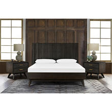 Loft 3 Piece Acacia King Bed and Nightstands Bedroom Set