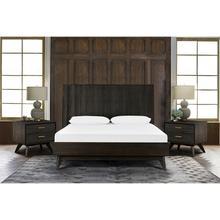 Loft 3 Piece Acacia King Bed and Nightstands Bedroom Set