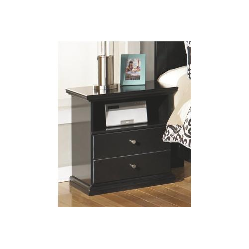Maribel One Drawer Night Stand Black