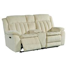 CUDDLER - LAUREL ECRU Power Console Loveseat