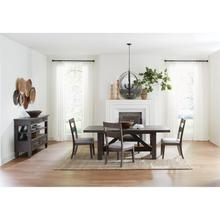 See Details - Bradford - Upholstered Seat Side Chair - Rustic Coffee Finish