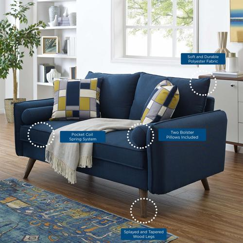 Modway - Revive Upholstered Fabric Loveseat in Azure