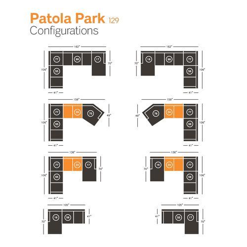 Patola Park Armless Loveseat