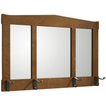 Three Glass Mirror with Hooks