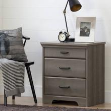 Nightstand with Charging Station and Drawers - Gray Maple