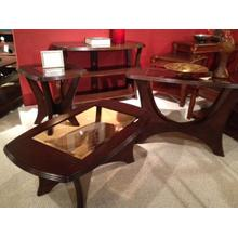 See Details - Mason Cherry / Glass TV Stand
