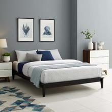 View Product - Lodge Queen Wood Platform Bed Frame in Cappuccino