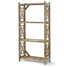 Wood Lattice Etagere