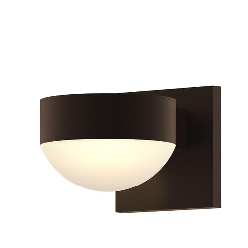 Sonneman - A Way of Light - REALS® Downlight LED Sconce [Color/Finish=Textured Bronze, Lens Type=Place Cap and Dome Lens]