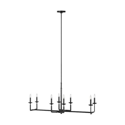 Ansley Linear Chandelier Aged Iron
