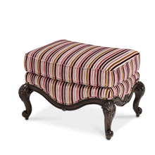 See Details - Wood Trim Chair Ottoman - Opt1