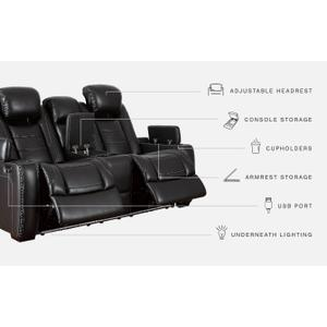 Signature Design By Ashley - Party Time Power Reclining Loveseat With Console