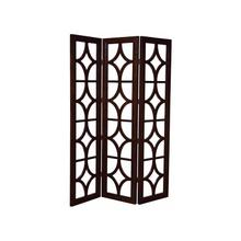 See Details - Chocolate- Three Panel Screen