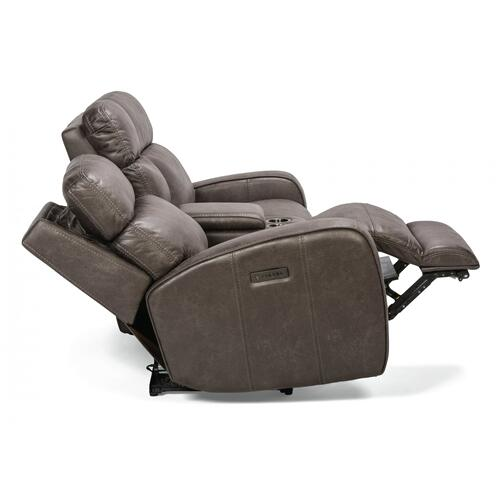 Tomkins Park Power Reclining Loveseat with Console & Power Headrests