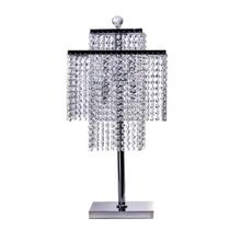 Square Crystal beaded- Two Tier Table Lamp