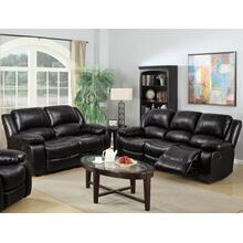 8026 BLACK 2PC Air Leather Living Room SET