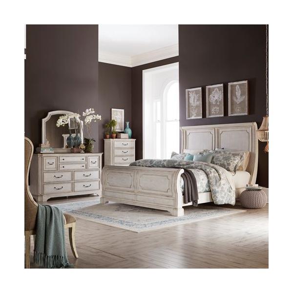 See Details - King California Sleigh Bed, Dresser & Mirror, Chest