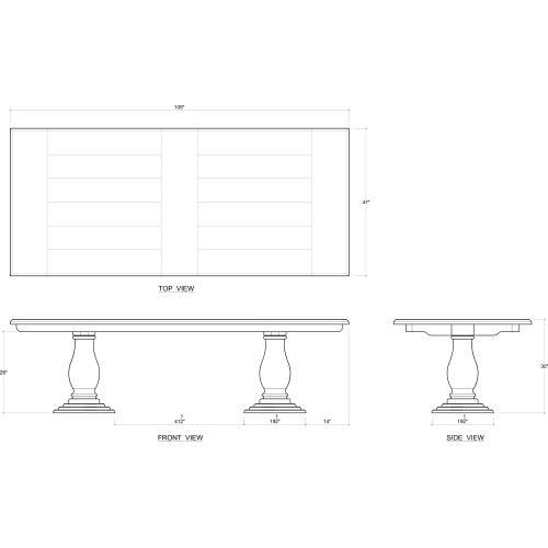 Whitehall Pedastal Table 108''