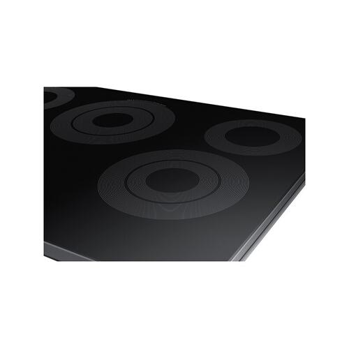 "30"" Smart Electric Cooktop in Black Stainless Steel"