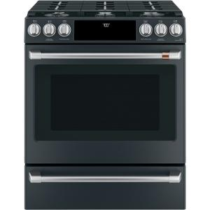"Cafe30"" Smart Slide-In, Front-Control, Gas Range with Convection Oven"