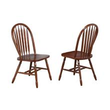 "Arrowback Dining Chair - Distressed Chestnut (38"")"