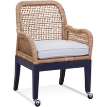 Boone Arm Dining Chair with Front Casters