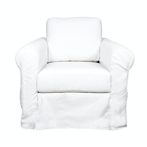 Roll Arm Slipcover Chair, Luxury depth.