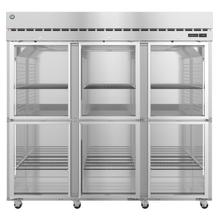 See Details - R3A-HG, Refrigerator, Three Section Upright, Half Glass Doors with Lock