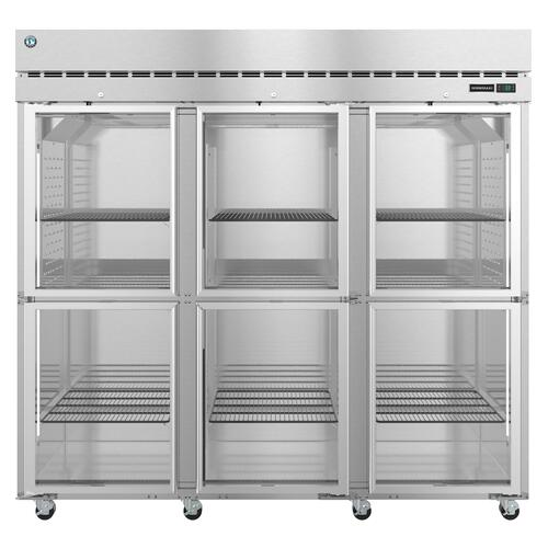 Hoshizaki - R3A-HG, Refrigerator, Three Section Upright, Half Glass Doors with Lock