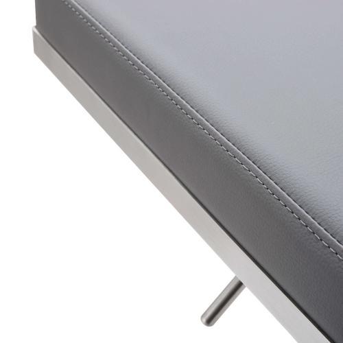 Bari Grey Stainless Steel Barstool