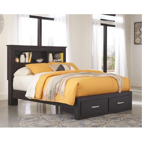 Signature Design By Ashley - Reylow Queen Bookcase Bed With 2 Storage Drawers