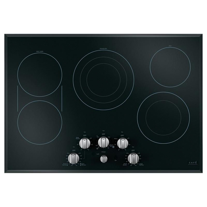 Café 5 Electric Cooktop Knobs - Brushed Stainless
