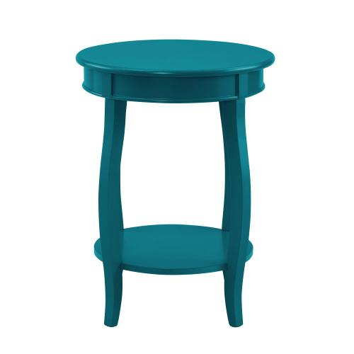 Round Lower Shelf Table, Teal