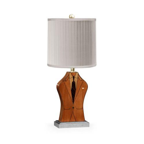 """Julian's """"Dapper Man"""" lamp"""