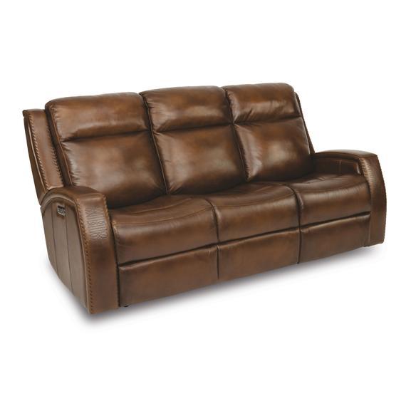 Flexsteel - Mustang Power Reclining Sofa with Power Headrests
