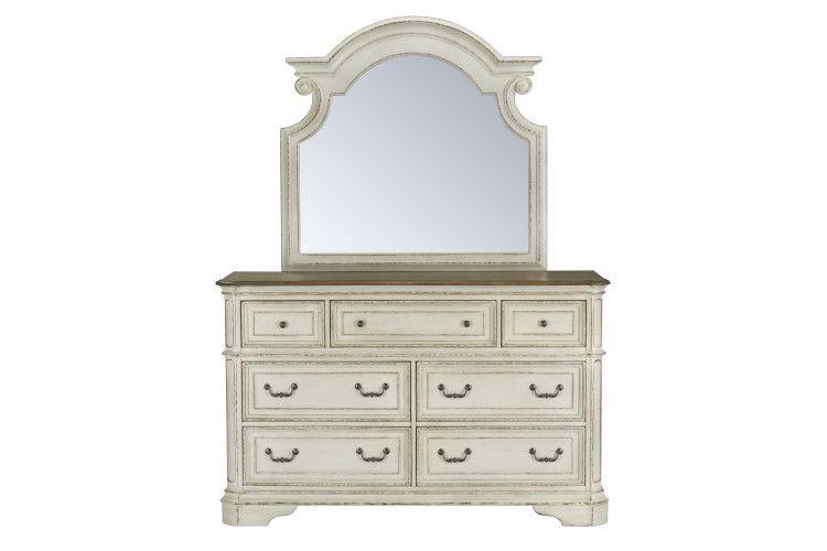 Stevenson Manor Dresser with Mirror, White